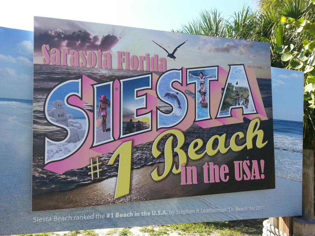 Siesta Key Beach Sign 1