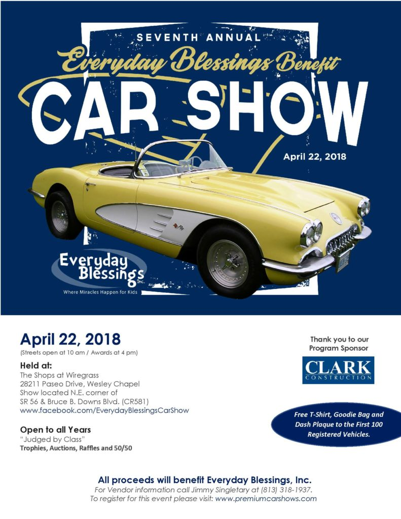 7th Annual Everyday Blessings Benefit Car Show